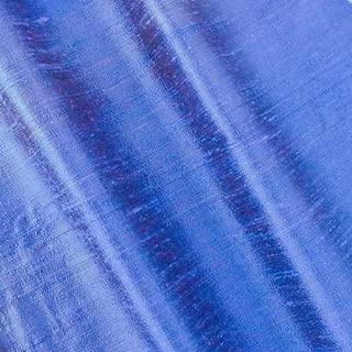 Mystic Periwinkle Iridescent Silk Dupioni Shantung, Fabric by The Yard