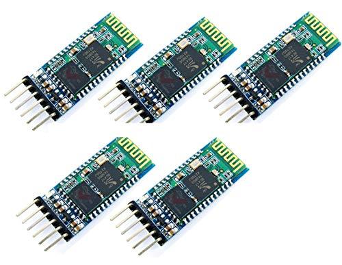 5pcs HC-05 Integrated Bluetooth Module Wireless Serial Port Module HC05   5 pz HC-05 Wireless Bluetooth Transceiver Seriale Modulo 6 Pin Master-Slave Bluetooth Extender Plate per Arduino e Genuine