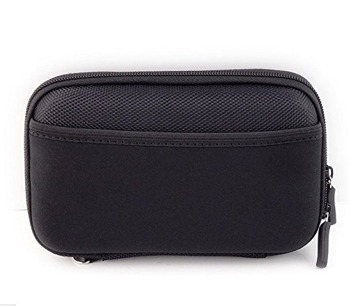 Nylon Hard Shell James Diabetes Compact Case for Glucose Meter Test Strips Lancing Device. (Black)