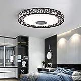 Berkalash Lámpara de techo LED, iluminación interior, lámpara de techo con altavoz Bluetooth, control para smartphone, luces de techo, perforadas y conchas negras
