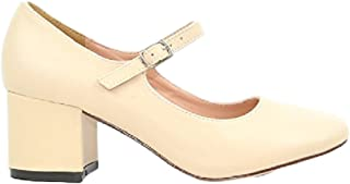 Brandi-1 Women's Chunky Block Heel with Mary Janes Strap Pump Shoes