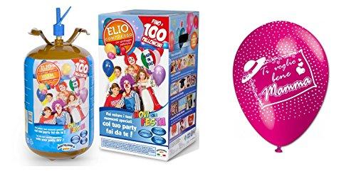 Partylandia Shop - Bombona de gas helio con 100 globos fucsia para...