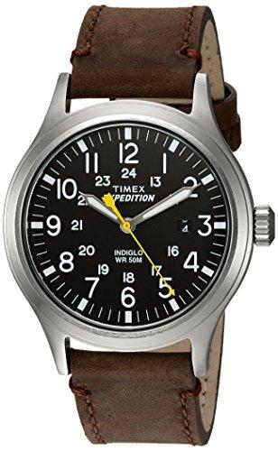 Timex Hommes Analogique Quartz Montre avec Bracelet en Cuir TWC004500