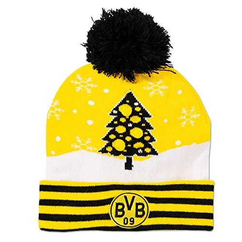 Borussia Dortmund Unisex Bvb-weihnachtsmütze , Schwarz/gelb, Einheitsgröße