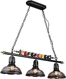 Pool Table Light, 3 Lights Wrought Iron Pendant Light For Billiards Hall, Restaurant, Cafe, Bar, Club, Bedroom Lighting