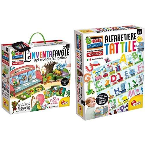 Liscianigiochi Lisciani Giochi- Giocare Educare, Life Skills, 72644 Montessori Alfabeto Tattile, 72446