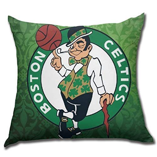 Franklin Sports Boston Celtics Pillow Covers 18x18 Iich Decorative Pillow Case Soft Plush Square Pillow Covers Standard Size