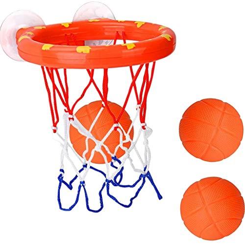sharprepublic Juguetes de baño Divertidos Baloncesto Aro y Pelotas Juegos de Baloncesto en bañera Piscina para niños Juguetes de baño Juego de Regalo 3 Mini Bolas