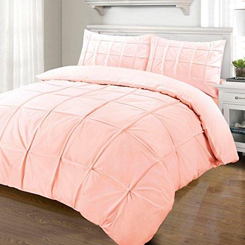 Nimsay Home Cartier Parure de lit avec housse de couette 100 % coton percale, rose poudré, Super king