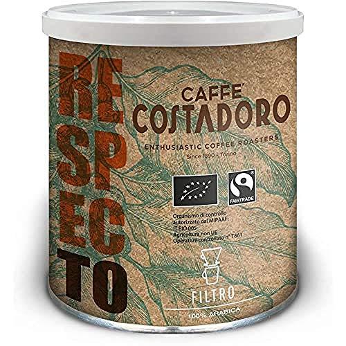 Caffè Costadoro Caffè Arabica RespecTo per Filtro - Lattina da 250g