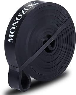 MONOZUKI フィットネスチューブ エクササイズバンド トレーニングチューブ 天然ゴム 懸垂 補助 ゴムチューブ 筋トレ ストレッチ 懸垂アシスト 4レベル負荷