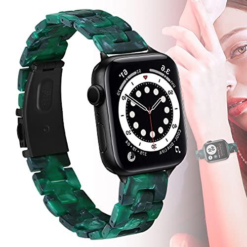 Compatible con Apple Watch De 38 Mm 40 Mm para Mujer, Correa De Reloj De Resina, Pulsera De Correa De Hebilla De Acero Inoxidable De Metal para Iwatch SE Apple Watch Series 6 5 4 3 2 1,42mm/44mm
