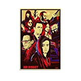 GDFG Mr Robot Art Poster 4k HD Poster Dekorative Malerei