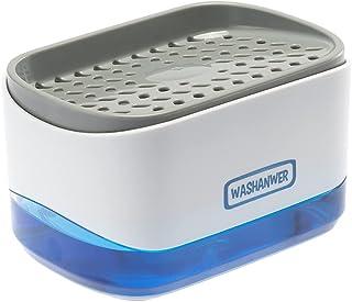Washanwer 🧼 Dispensador de jabon para para Cocina, con dispensor jabon y Espacio para Esponjas o Fibra. Contenedor con di...