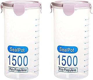 Pkfinrd 2pcs en Plastique boîte fraîche boîte Transparente gastronomie scellée Colline boîte de Rangement de la boîte à la...