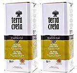 2x 5,0l Kanister Terra Creta Olivenöl P.D.O. Kolymvari | Extra natives Olivenöl von Kreta | + 1 x 20ml Olivenöl'ElaioGi' aus Griechenland