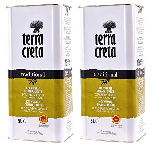 "Terra Creta Olivenöl 2x 5,0l Kanister P.D.O. Kolymvari   Extra natives Olivenöl von Kreta   + 1 x 20ml Olivenöl\""ElaioGi\"" aus Griechenland"