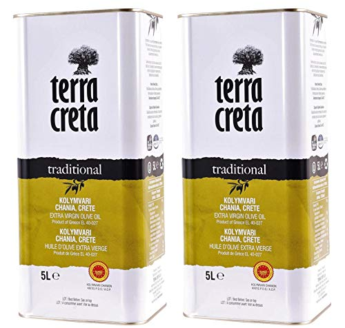 2x 5,0l Kanister Terra Creta Olivenöl P.D.O. Kolymvari | Extra natives Olivenöl von Kreta | + 1 x 20ml Olivenöl