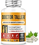 Doctor Taller - Support Healthy Growth - Premium and Breakthrough Ingredients - Help Children and Teens Grow - Healthy Growth Supplement - 60 Vegan Capsules - for Children (8+) and Teens