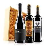 Premium Rioja Red Wine Trio in Wooden Gift Box - 3 Bottles (