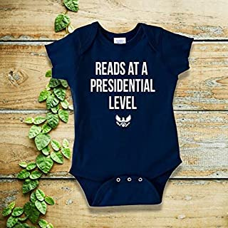 Reads at a Presidential Level Baby Bodysuit Resist Women's March Trump sucks Resistance Fun Baby Gifts Feminist Blue Wave Democracy