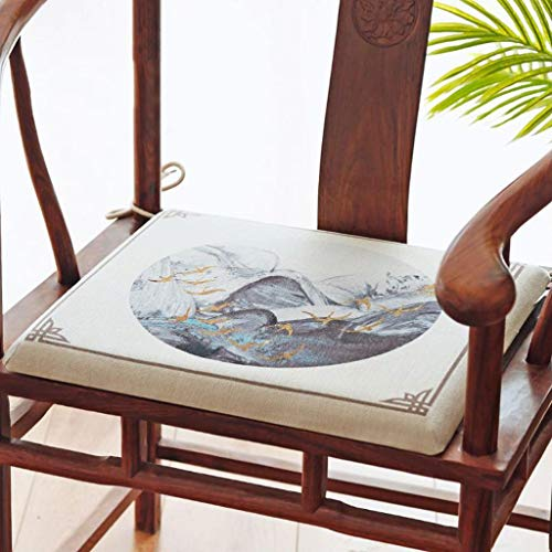 Sitzkissen Stuhlkissen für Indoor Outdoor Memory Foam-Sitzkissen mit Tie Straps ist leicht zu reinigen Gartenstuhl Sitz ist ideal for Indoor und Outdoor-Kissen für Gartenstuhl Küche Esszimmerstuhl