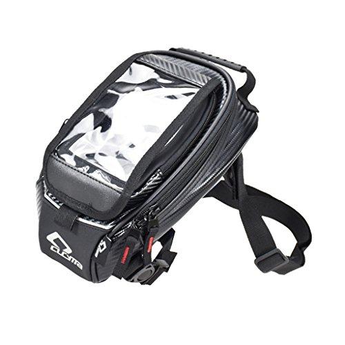 Sharplace 1 Stück Motorrad Tasche Tankrucksack Leder Satteltaschen Heckgepäck Tanktasche Wasserdicht Gepäckträgertasche