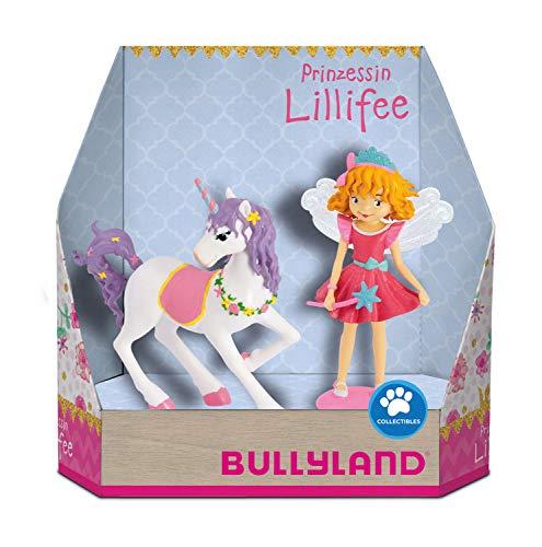 Bullyland 18901 - Spielfiguren Set, Prinzessin Lillyfee mit ihrem Einhorn Rosalie, Geschenkbox, ideal als Torten-Figuren, detailgetreu, PVC-frei, tolles Geschenk für Kinder zum fantasievollen Spielen
