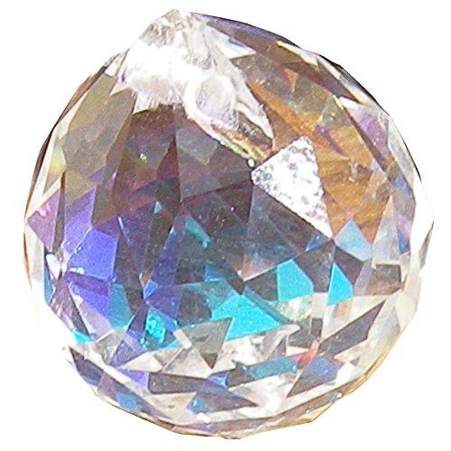 色付き サンキャッチャー 20mm 5個 10個 15個 セット クリスタル ガラス ボール オーロラ レインボー (15個)