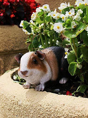 IFEVER Animal Garden Statue Funny Outdoor Sculpture Resin Guinea Pig Lawn Ornaments Decor