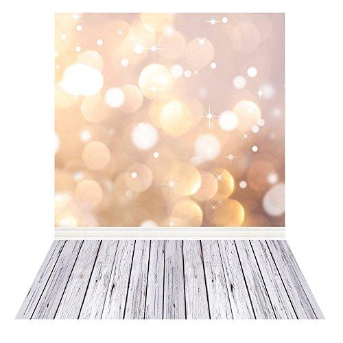 Andoer Fondo fotográfico impreso digitalmente patrón de árbol de Navidad fiesta celebración foto estudio regalo (1.5 * 2m)(3)