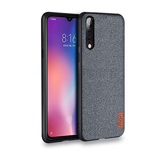 MOFI莫凡 Mofi Hülle for Xiaomi Mi 9,Xiaomi Mi 9 Phone Hülle Shockproof [Soft Silicone Bumper] [Hard Back] [Full Body Protection] Hülle for Xiaomi Mi 9 - Grey