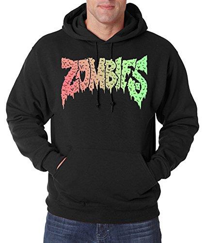 TRVPPY Herren Hoodie Kapuzenpullover Modell Zombies, Schwarz, XL