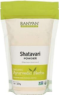 Banyan Botanicals Organic Shatavari Powder – Asparagus racemosus – Ayurvedic Herb for Vata & Pitta, Balanced Female Hormon...