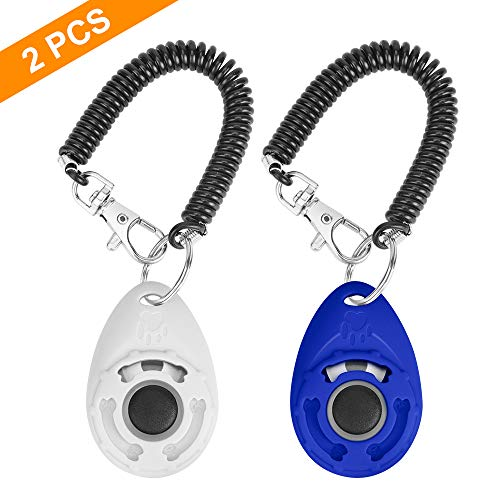 N / A 2PCS Training Clicker for Dogs with Wrist Strap, Dog Cat Clicker...