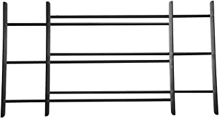 John Sterling Non-Opening Style 3-Bar Child Safety and Window Guard, Black,
