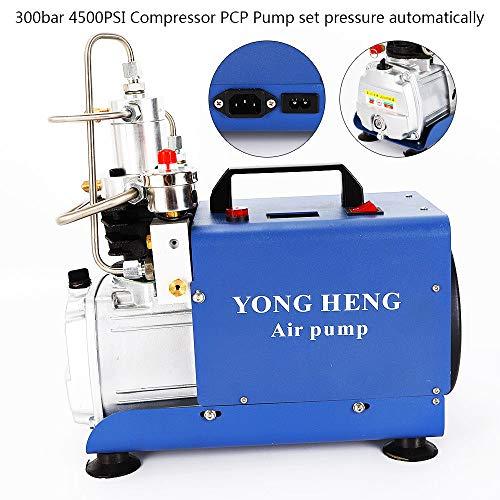 YIYIBY Hochdruckluftpumpe Elektrische SET pressure 300BAR 30MPA 4500PSI Luft Kompressor PCP für Automobil Tauchflasche Industrieflasche Luftgewehr Gewehr Inflator (Druck einstellen Typ)