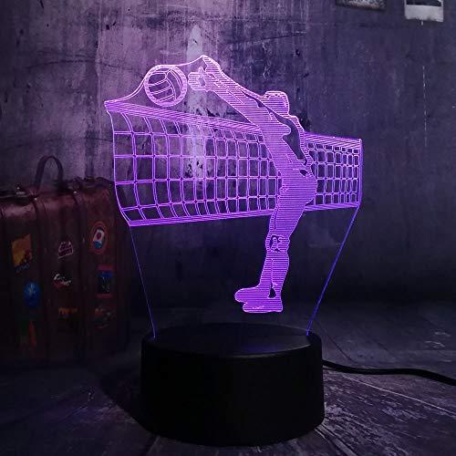 Neue Sportart Volleyball Neuheit Dsek 3D LED Nachtlicht USB Tischlampe Kinder Geburtstagsgeschenk Nachtzimmer Dekoration