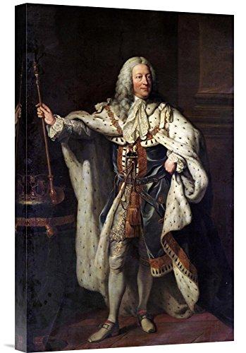 Global Gallery Budget GCS-267270-22-142 John Shackleton Retrato do Rei George Ii Gallery Wrap Giclee em tela Impressão de arte de parede