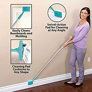 Decacy, Dust Mops, Adjustable Conforming Baseboard Cleaner Tool Long Handle Dust Brush for Home