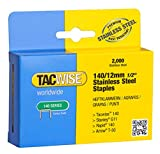 Tacwise 1220 Grapas de acero inoxidable de tipo 140/12 mm