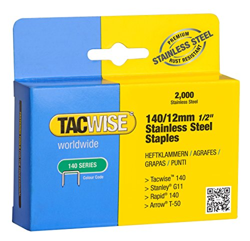 Tacwise 1220 Edelstahlklammern 140/12mm (2.000 Stück)