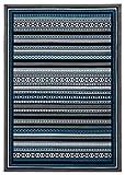 MBH RUGS Daisy Teal Kilim Tapis Vintage Traditionnel Look, Polypropylène, Bleu...