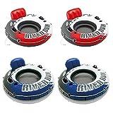 Intex River Run - Tubo hinchable rojo de 53 pulgadas (2 unidades) y tubo hinchable azul (2 unidades)