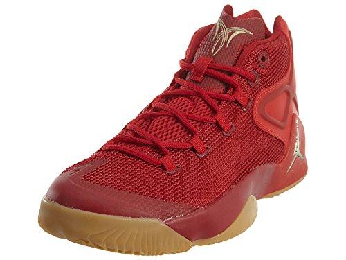 Jordan Nike Men's Melo M12 Red/Yellow/Metalic Gold Star 827176-696 (Size: 12)