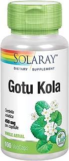 Solaray Gotu Kola 450 mg | Healthy Mood & Blood Circulation Support | Non-GMO & Vegan | 100 VegCaps