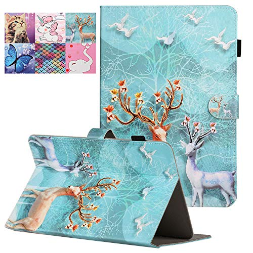 Coopts 10 Inch Universal Tablet Case, Shockproof Folio Stand Wallet Sleeve Cover for Amazon Fire HD 10/iPad 9.7'/RCA Viking Pro 10.1/RCA 10 Viking II/Asus ZenPad and All 10' Tablets, Sika Deer