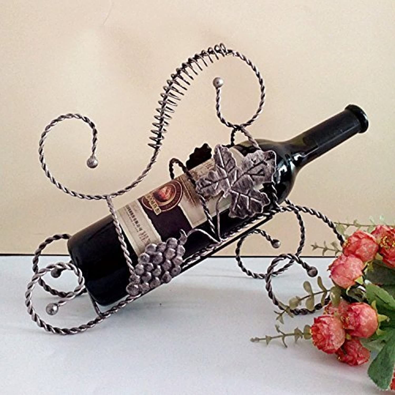 Iron Wine Rack Wine Rack Creative European Retro Fashion Ornaments, Champagne Silver (color   -, Size   -)