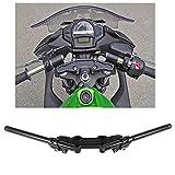 Qiilu Motorcycle Separating Handlebars Clip-On Adapter Plate & Handlebars Set for Kawasaki Ninja 650R 2006-2011 650 2012-2016 ER-6F 2006-2016