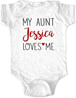 My Aunt or Uncle or Sister or Brother (Custom Name) Loves Me - Personalized Baby Birth Pregnancy
